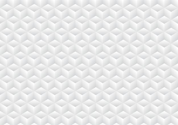 Fondo bianco e grigio geometrico realistico del modello dei cubi 3d