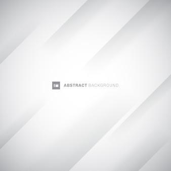 Fondo bianco e grigio moderno astratto delle bande diagonali