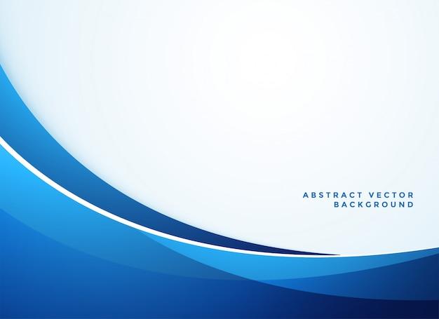 Fondo blu astratto di stile di affari ondulato