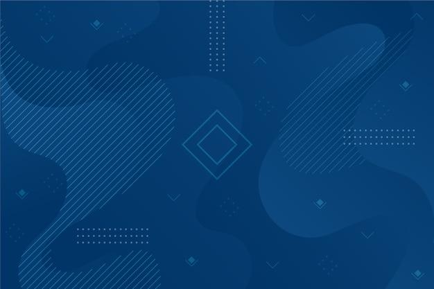Fondo blu classico astratto con forma geometrica