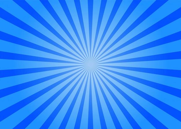 Fondo blu comico astratto stile del fumetto. luce del sole.