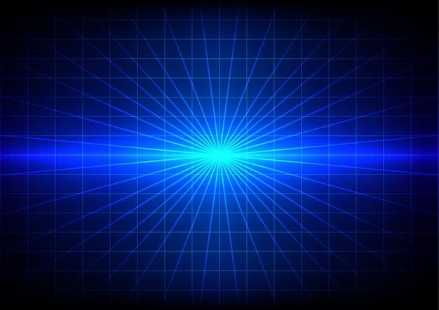 Fondo blu di effetto della luce del chiarore di abstrack