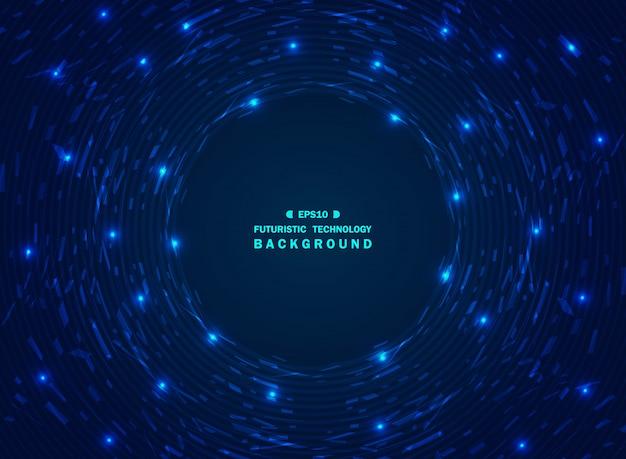 Fondo blu di tecnologia di pendenza futuristica di caos