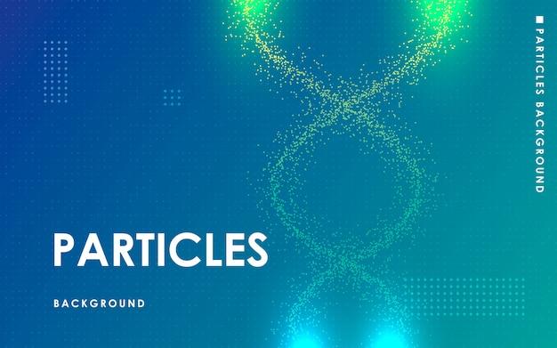 Fondo blu moderno degli elementi dei punti di flusso liquido