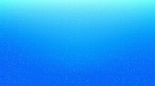 Fondo blu moderno di tecnologia del microchip del circuito