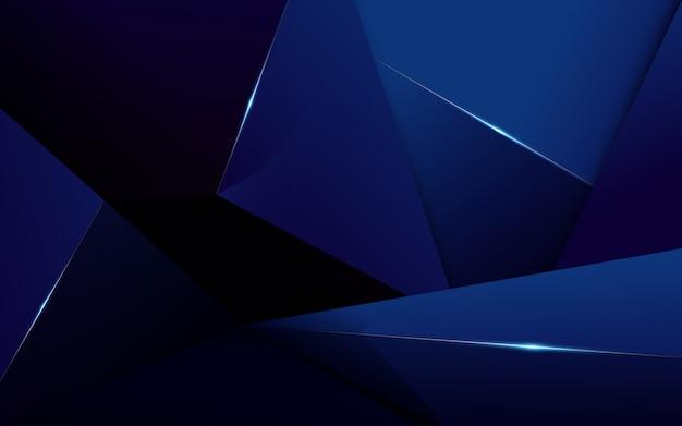 Fondo blu scuro di lusso del modello poligonale astratto