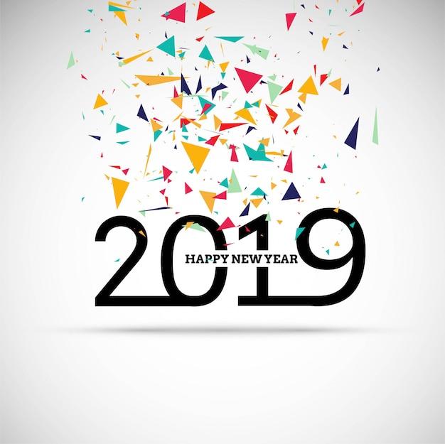 Fondo brillante variopinto del testo da 2019 anni felice