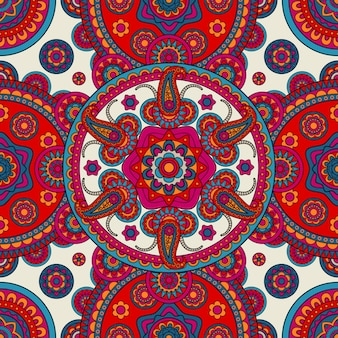 Fondo colorato senza cuciture floreale di boho indiano