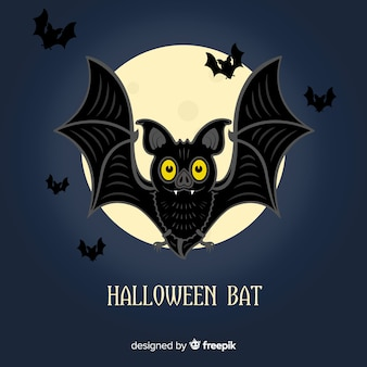 Fondo creativo del pipistrello di halloween