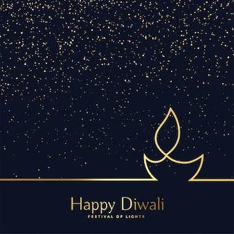 Fondo creativo di diwali diya della linea arte