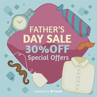 Fondo creativo di vendita di giorno di padri