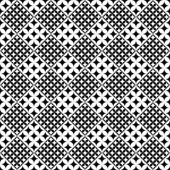Fondo curvo in bianco e nero astratto del motivo a stelle