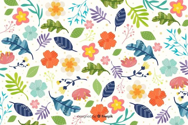 Fondo decorativo dei fiori piani variopinti