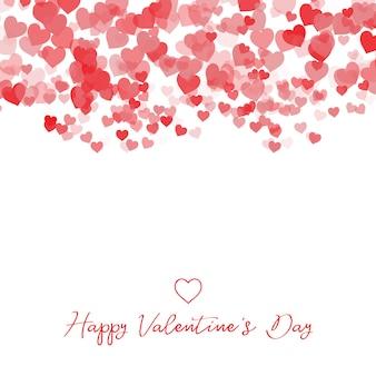 Fondo decorativo del cuore di san valentino