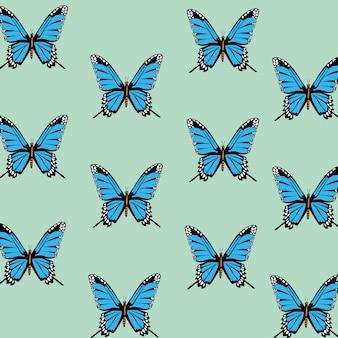 Fondo decorativo del modello delle belle farfalle.