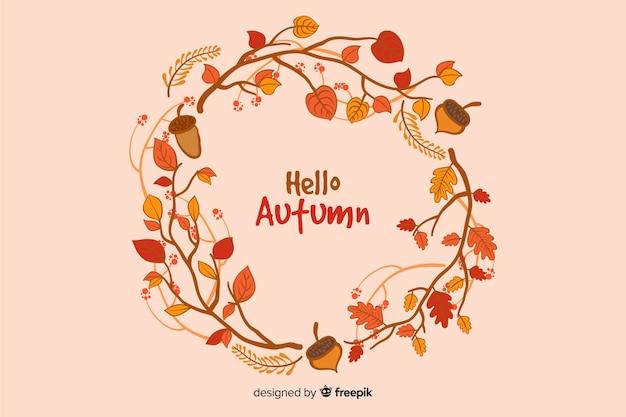 Fondo decorativo di autunno disegnato a mano