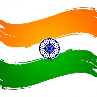 Fondo decorativo di tema indiano moderno della bandiera