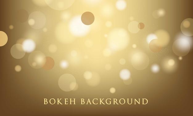 Fondo del bokeh dell'oro, struttura astratta e leggera