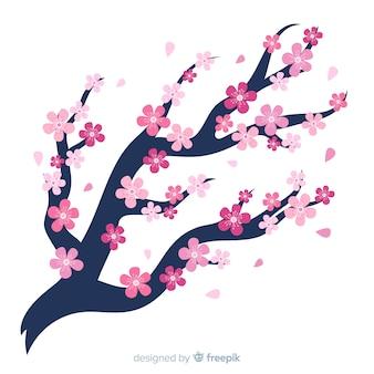 Fondo del fiore di ciliegia del ramo