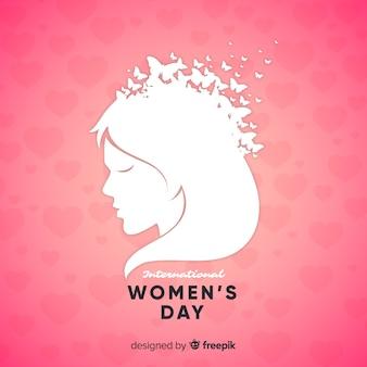 Fondo del giorno delle donne del busto della ragazza