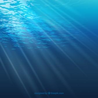 Fondo del mare realistico con sole
