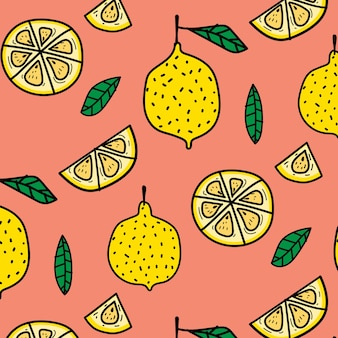 Fondo del modello della frutta del limone.