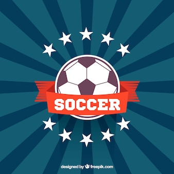 Fondo del pallone da calcio in stile piano
