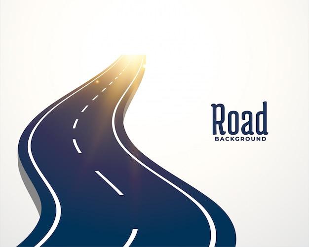 Fondo del percorso della curva della strada di bobina