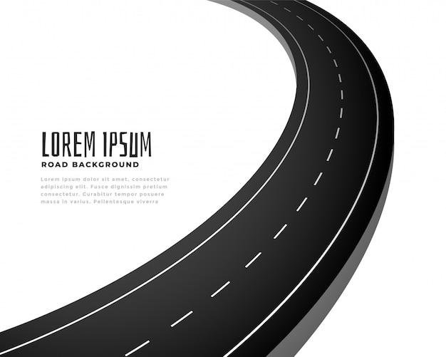 Fondo del percorso della strada della curva dell'asfalto