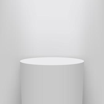 Fondo del piedistallo del museo, palcoscenico, presentazione del podio 3d.