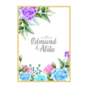 Fondo del telaio di ornamento floreale dell'acquerello