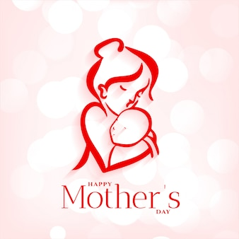 Fondo dell'abbraccio del bambino e della madre per la festa della mamma