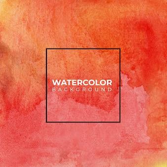 Fondo dell'acquerello astratto dell'acquerello dipinto a mano rosso arancio,