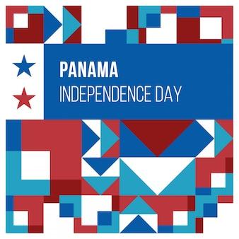 Fondo dell'estratto di festa dell'indipendenza di panama