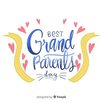 Fondo dell'iscrizione di giorno dei nonni