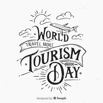 Fondo dell'iscrizione di giorno di turismo mondiale