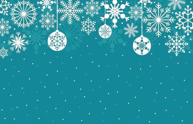 Fondo della carta di struttura dell'illustrazione del fiocco di neve della neve di inverno