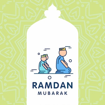 Fondo della cartolina d'auguri di vettore di ramadan kareem