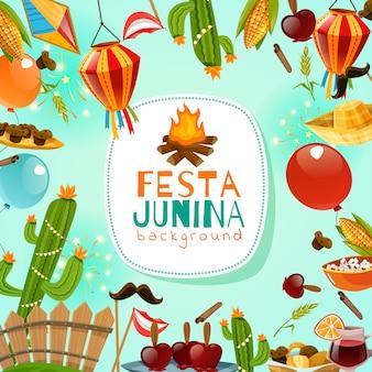 Fondo della cornice di festa junina