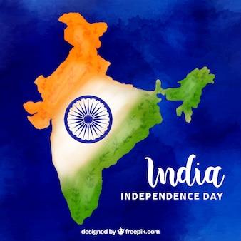 Fondo della mappa di festa dell'indipendenza dell'india
