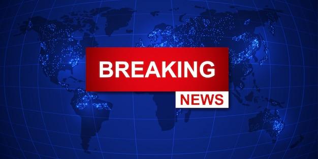 Fondo della mappa mondiale di breaking news