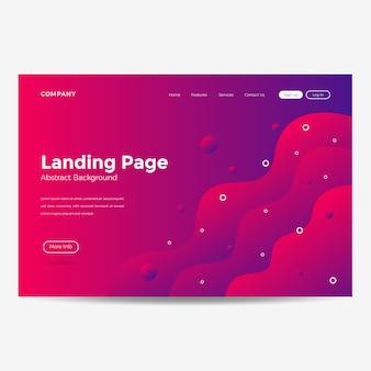 Fondo della pagina di destinazione del modello del sito web moderno