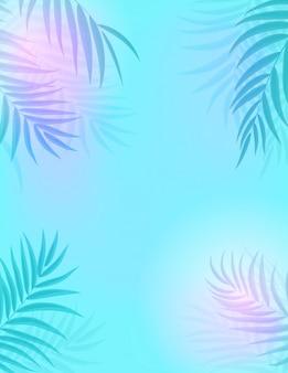 Fondo della siluetta della foglia della palma di beautifil