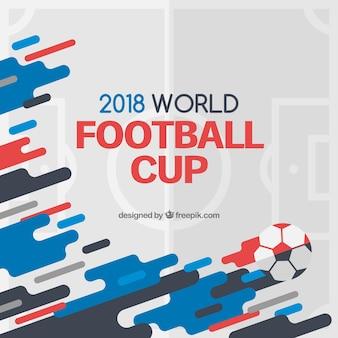 Fondo della tazza di calcio del mondo con forme astratte