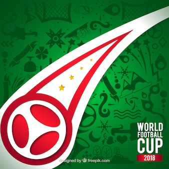 Fondo della tazza di calcio del mondo con il modello