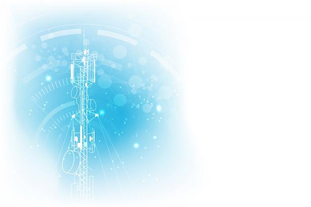 Fondo della torre di comunicazione della trasmissione dell'antenna