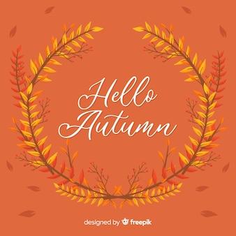 Fondo di autunno disegnato a mano con foglie