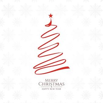 Fondo di Buon Natale con disegno dell'albero