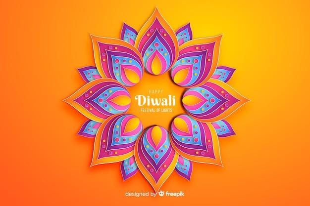Fondo di celebrazione degli ornamenti di festival di diwali