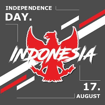 Fondo di celebrazione dell'indonesia independece day